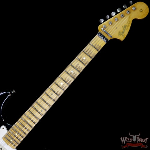 2017 Fender Custom Shop Masterbuilt 1966 Stratocaster Floyd Rose Relic Black Over Shell Pink by John Cruz