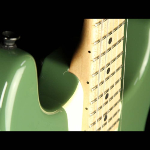 2010 Charvel Used 2010 Charvel Custom Shop San Dimas Electric Guitar Rising Sun Green with Gold Leaf Letters