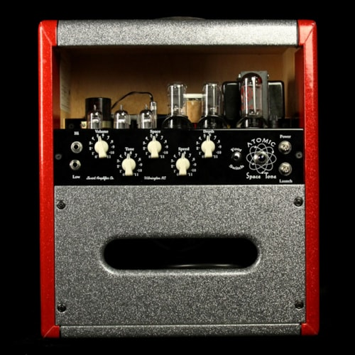 2006 Swart Used 2006 Swart Atomic Space Tone Combo Amplifier Red and Silver Sparkle