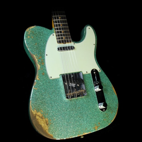2017 Fender Custom Shop 2017 Limited 1963 Telecaster Heavy Relic Guitar Seafoam Sparkle