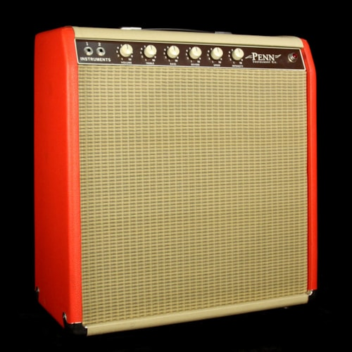 Penn Amplifiers Used Penn Amplifiers Custom Made 18 Watt Electric Guitar 1x15 Combo Amplifier Red