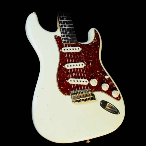 Fender Custom Shop '65 Stratocaster Journeyman Relic Guitar Olympic White with Midas Tint