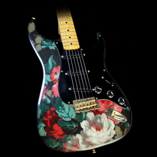 Fender Custom Shop Masterbuilt Yuriy Shishkov Retro Decor Stratocaster Electric Guitar Flowers