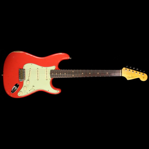 Fender Custom Shop Limited Edition Thin Skin Stratocaster Relic Electric Guitar Faded Fiesta Red