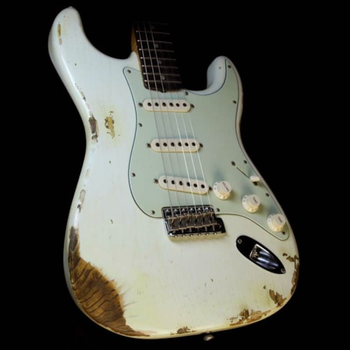 Fender Custom Shop '60 Stratocaster Relic Electric Guitar Aged Olympic White