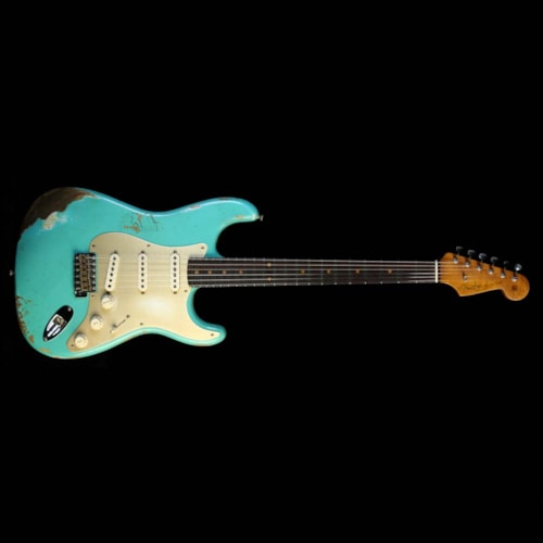 Fender Custom Shop '59 Stratocaster Heavy Relic Electric Guitar Aged Seafoam Green