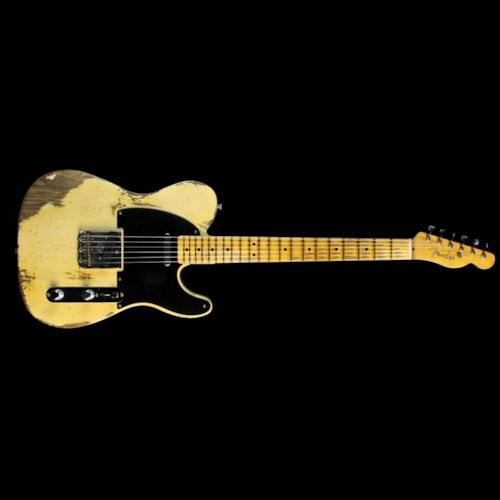 1951 Fender Custom Shop 1951 Nocaster Heavy Relic Electric Guitar Faded Nocaster Blonde