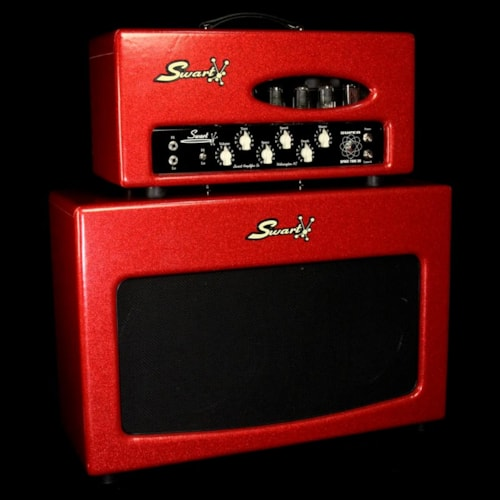 2007 Swart Used 2007 Swart Super Space Tone 30 Head & 2x12 Cabinet Red Sparkle
