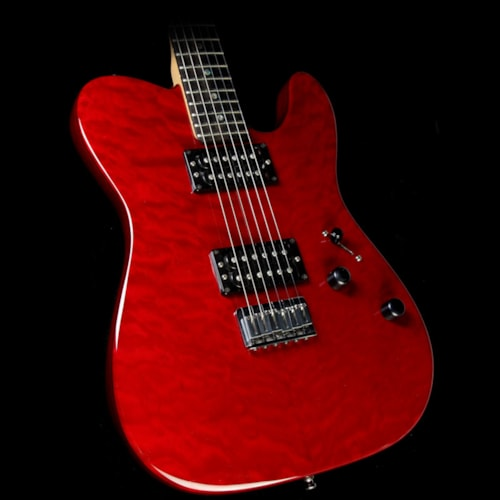 2015 Fender Used 2015 Fender American Deluxe Telecaster Electric Guitar Cherry Red
