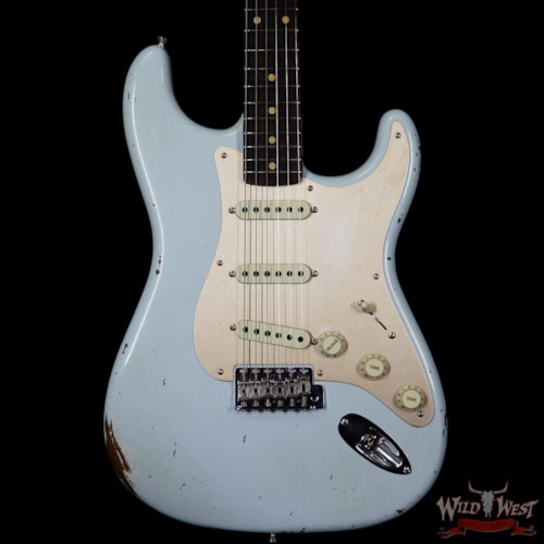 2017 Fender 2017 NAMM Fender Custom Shop 30th Anniversary LTD 1960 Roasted Stratocaster Relic Faded Sonic Blue