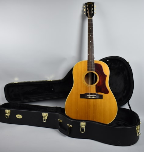 1966 Gibson J-50 Vintage Natural Finish Flattop Acoustic Guitar USA w/HS