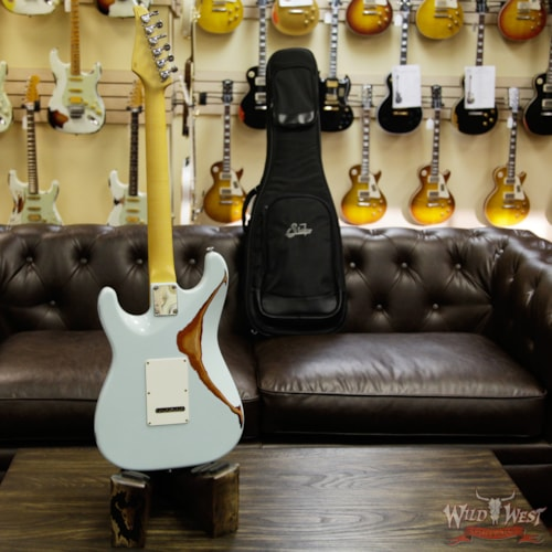 2017 Suhr Limited Classic Antique Pro HSS Rosewood Fretboard Sonic Blue over 3 Tone Burst
