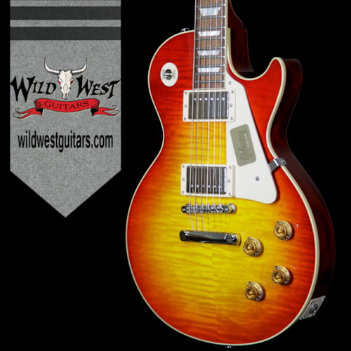Gibson 2016 Gibson Custom Shop Standard Historic Les Paul R8 1958 Gloss Flame Top Washed Cherry 8.85 Pounds