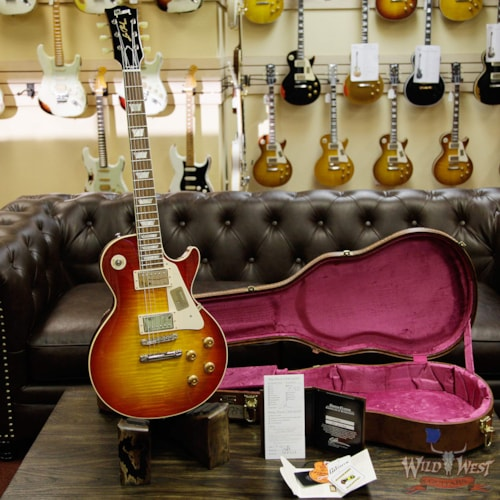 2016 Gibson 2016 Gibson Custom Shop Standard Historic Les Paul R8 1958 Gloss Flame Top Washed Cherry 8.85 Pounds