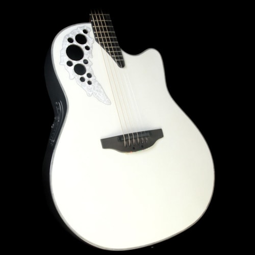Ovation Melissa Etheridge Signature Elite Plus Acoustic Pearl White