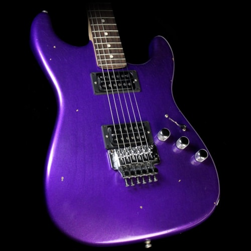 Fender Custom Shop Exclusive ZF Stratocaster Relic Electric Guitar Purple Metallic