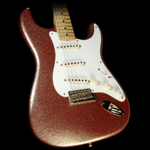 Fender Custom Shop 1957 Stratocaster Heavy Relic Electric Guitar Gold Sparkle over Red Base