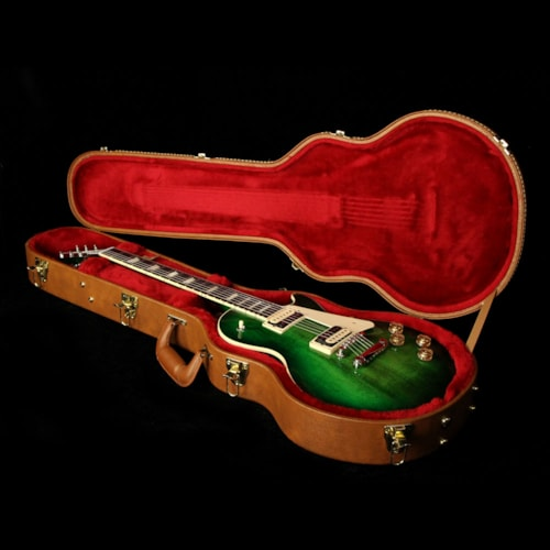 2017 Gibson Used 2017 Gibson Les Paul Classic T Electric Guitar Green Ocean Burst