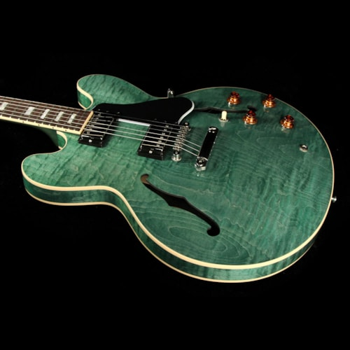 2016 Gibson Used 2016 Gibson Memphis ES-335 Figured Electric Guitar Turquoise Stain