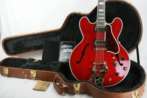 ~2017 Gibson ES-355 VOS 60's CHERRY! Gold Bigsby! Memphis 335 345