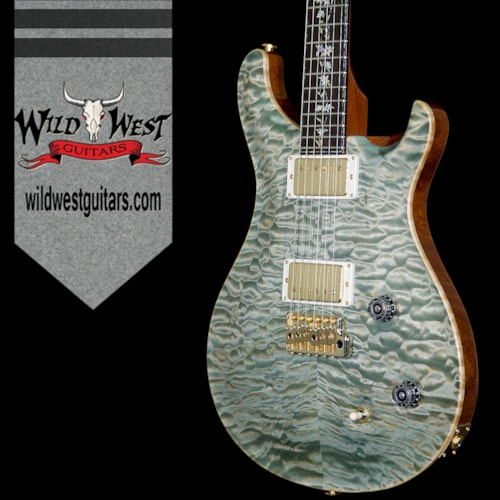 """2017 PRS - Paul Reed Smith Paul Reed Smith PRS Private Stock PS6708 Quilt Top Custom 22 Modern """"Tree of Life"""" Inlay Teal Mist"""