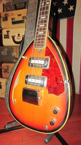 1968 Winston Hollowbody Teardrop Bass