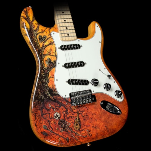 Fender Used Fender Special Edition David Lozeau Art Stratocaster Electric Guitar Tree Of Life