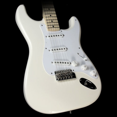Fender Artist Series Jimmie Vaughan Tex Mex Stratocaster Electric Guitar Olympic White