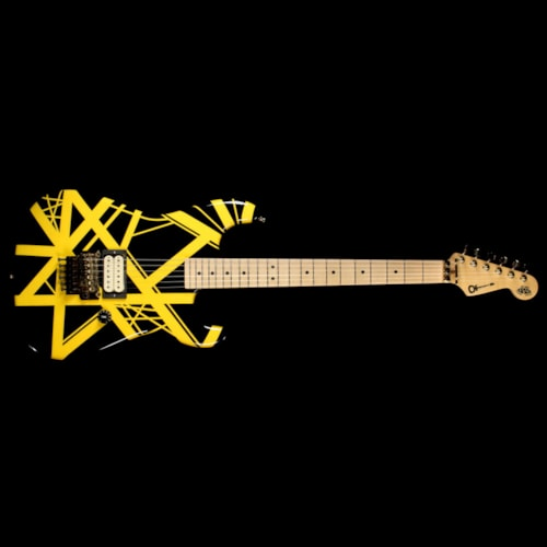 Charvel Used Charvel EVH Art Series Electric Guitar Black & Yellow