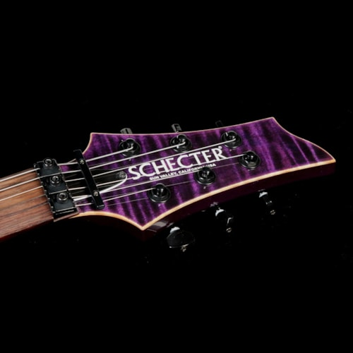 2013 SCHECTER Used 2013 Schecter USA Hollywood Classic Electric Guitar Black Violet