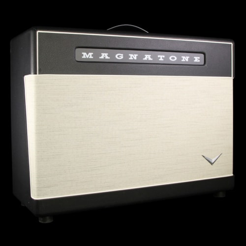 """Magnatone Used Magnatone Master Collection 2x12"""" Electric Guitar Amplifier Cabinet Black"""