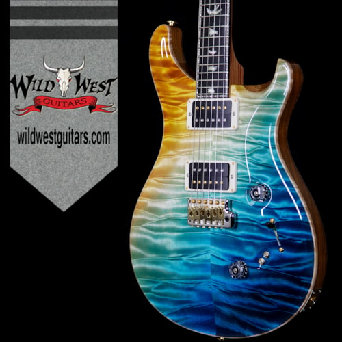 2017 PRS - Paul Reed Smith PRS Private Stock 7048 Custom 24/08 Quilt Top Swamp Ash Sapele Back Tulip Neck Beach Cross Fade