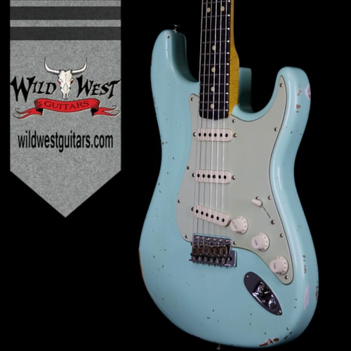 2017 Fender® Custom Shop Collection 1963 Stratocaster® Relic® Sort of Dark AAA Rosewood Fretboard Surf Green