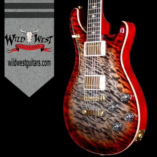 2017 PRS - Paul Reed Smith PRS Wood Library Artist Package Mc 594 1-Piece Quilt Top Brazilian Rosewood Charcoal Cherry Burst