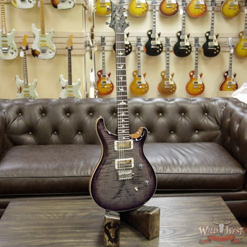 2017 PRS - Paul Reed Smith PRS Wild West Guitars Special Run CE 24 Flame Top 57/08 Pickups Faded Grey Black Purple Burst 244030