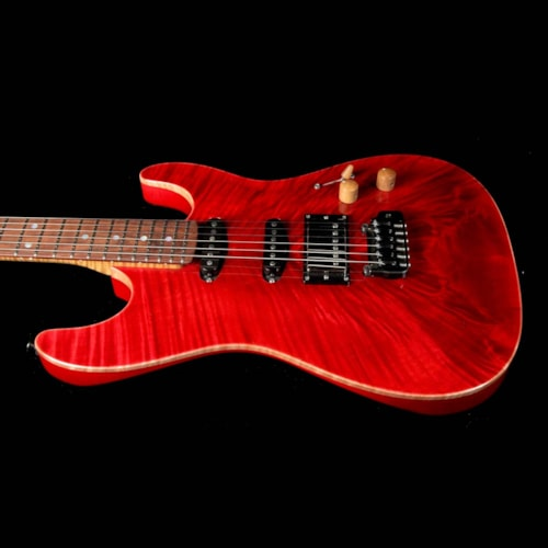 Landon Guitars Twentyfive12SC Carve Top Electric Guitar Blood Red