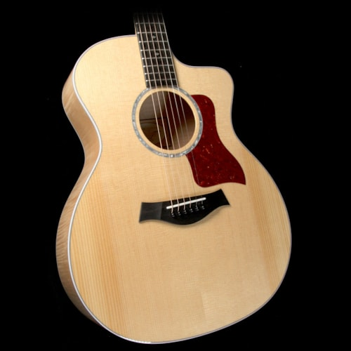 Taylor 214ce Deluxe Grand Auditorium Acoustic-Electric Guitar Flame Maple