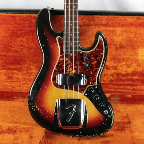 1964 fender jazz bass sunburst all original full pre cbs. Black Bedroom Furniture Sets. Home Design Ideas