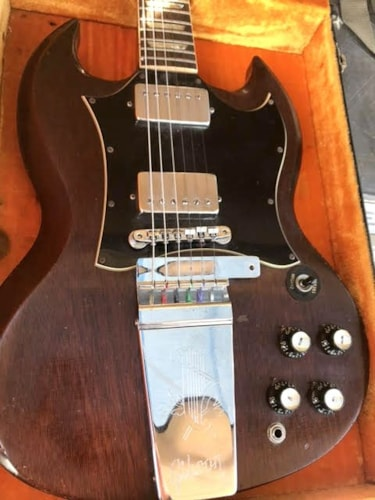 1969 gibson sg classic cherry guitars electric solid body