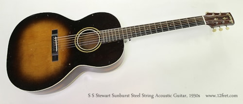 ~1930 S.S. Stewart Steel String Acoustic