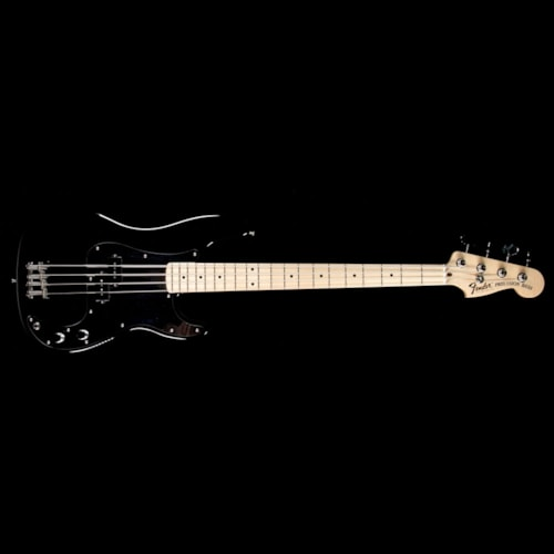 1970 Fender Custom Shop 1970 Precision Bass Reissue NOS Electric Bass Guitar Black with Chrome Pickguard