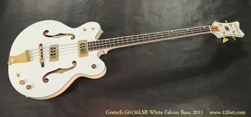 2011 Gretsch White Falcon Bass G6136LSB