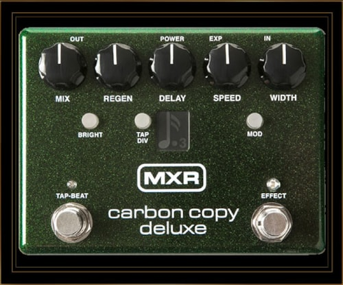 MXR Carbon Copy Deluxe Analog Delay Pedal with Tap Tempo
