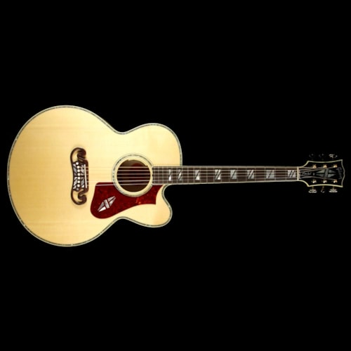 Gibson Super 200 Antique Natural Acoustic-Electric Guitar 2017