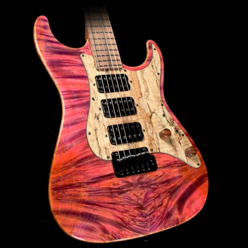 2017 Suhr Used 2017 Suhr Standard Waterfall Burl Maple Top Electric Guitar Pink Algae