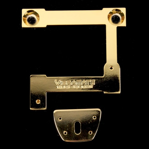 Vibramate Quick Mount Bigsby Tailpiece Kit for Semi-Hollow Bodies (Gold)