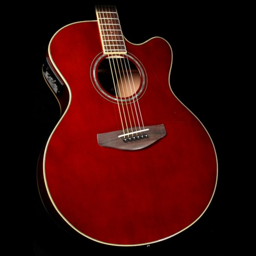 Yamaha cpx600 acoustic electric guitar root beer guitars for Yamaha credit card phone number