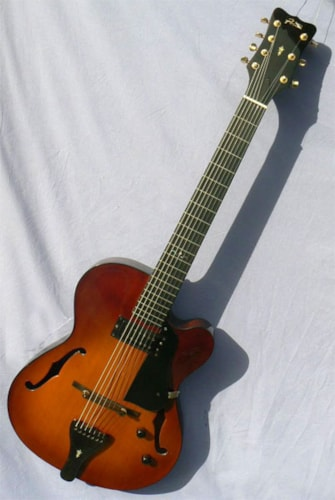 ~2005 Jimmy Foster Basin St. 7 String: Rare Model, Hard To Find!