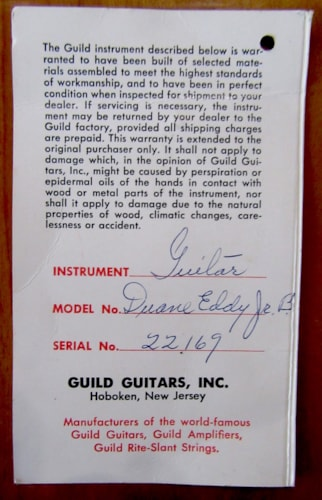 1962 Guild Duane Eddy Jr. B