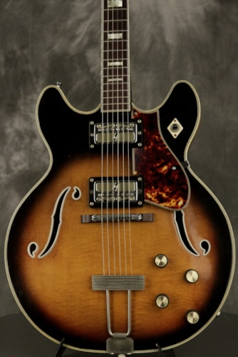 1969 Harmony METEOR H60 FLAME MAPLE TOP + BACK w/BOUND F-holes